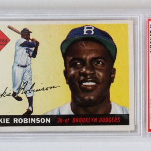 1955 Topps Jackie Robinson Graded Card #50 - PSA