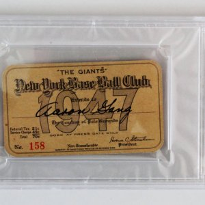 1947 Jackie Robinson 1st Home Run Press Pass - PSA Graded