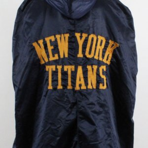 1960-62 New York Titans Game-Worn Sideline Cape- COA 100% Authentic Team