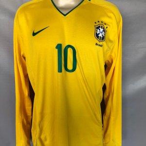 2008 Ronaldinho Game-Worn Jersey Brazil National Team