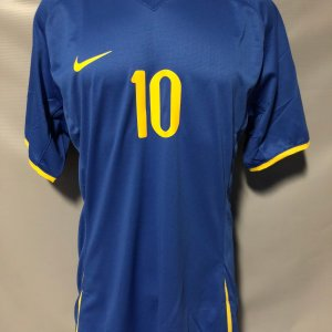 2008 Ronaldinho Game-Worn Jersey Brazil National Olympic Games