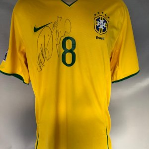 Kaka Game-Worn  Signed Jersey 2008 Brazil National Team