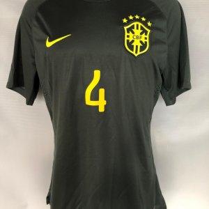 2014 Davi Luiz World Cup Game-Worn Brazil Jersey