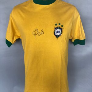 Pele Game-Worn Signed Jersey Brazil 1971 National Team