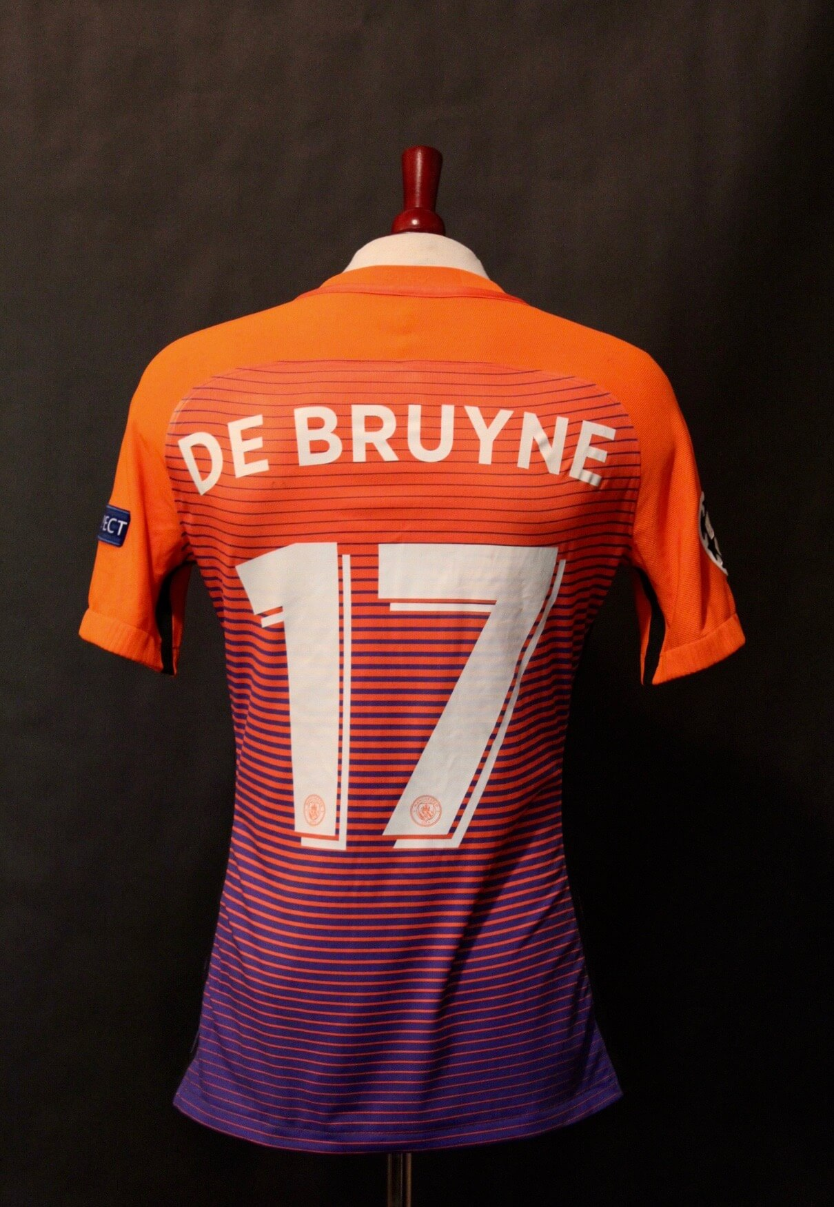 watch 1b5e5 334b3 A Kevin De Bruyne Game-Used #17 Manchester City FC Away Shirt. 2016/17 UEFA  Champions League.