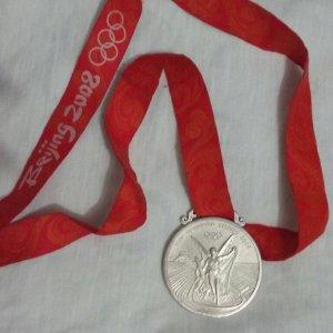 Olympic Games Beijing 2008 Silver Medal- Women's Brazilian Soccer