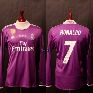 Cristiano Ronaldo Game-Used #7 Real Madrid Shirt.  2017 UEFA Champions League Final.