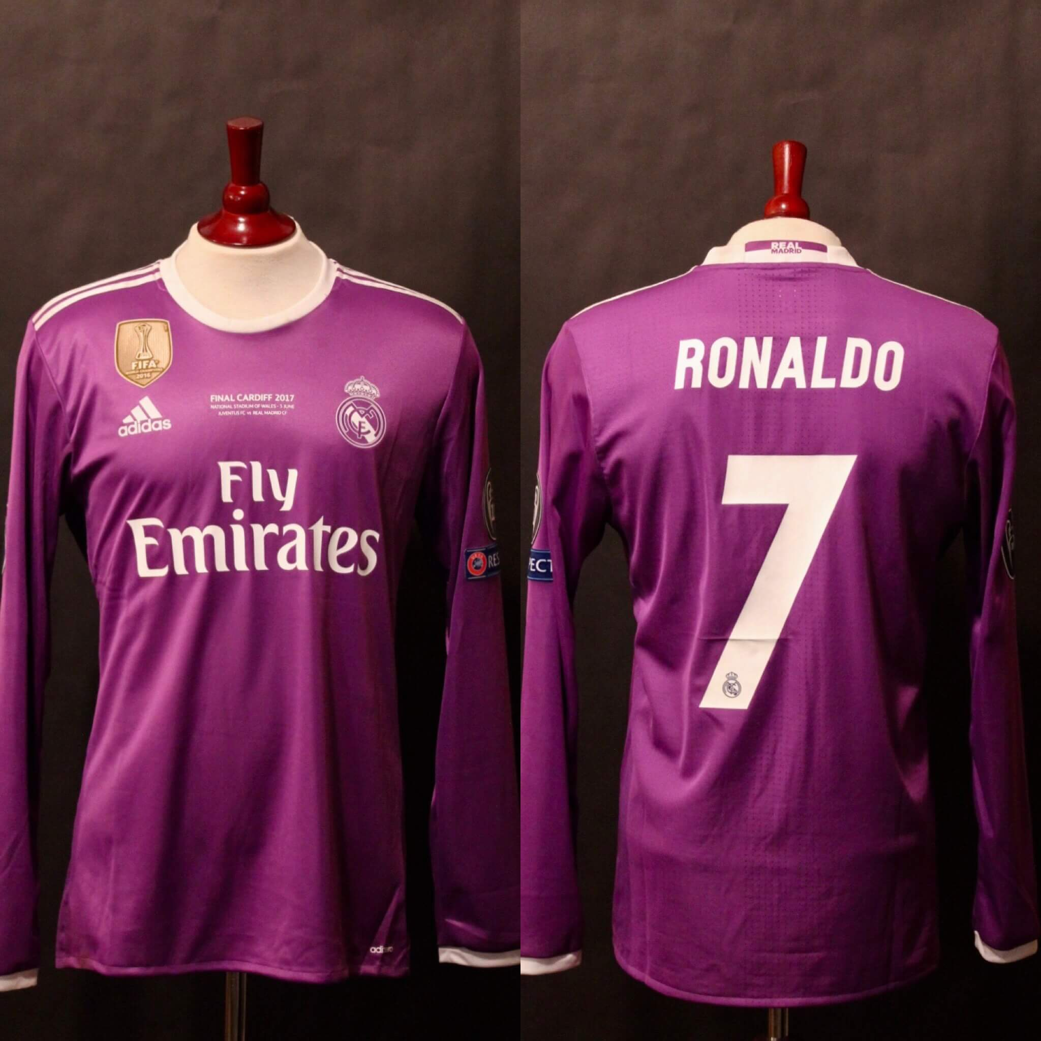 low priced ec6f2 a7274 Cristiano Ronaldo Game-Used #7 Real Madrid Shirt. 2017 UEFA Champions  League Final.