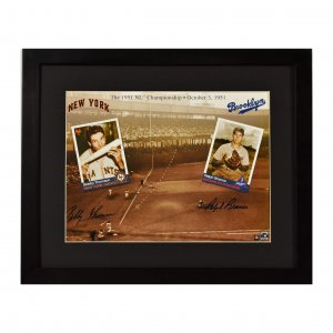 Branca Thomson signed 1951 NL Championship Lithograph