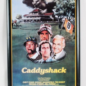 Chevy Chase Signed Poster Caddyshack - COA