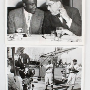 Jackie Robinson Wire Photos (2) Dodgers