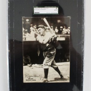 1929 R316 Rogers Hornsby Photo Cubs - SGC