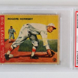 1933 Goudey Rogers Hornsby Graded Card #119 - PSA