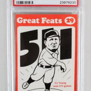 1972 Laughlin Great Feats Cy Young Graded Card - PSA 9