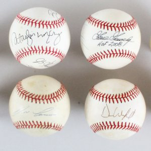 MLB Baseball Signed Lot (8) Greg Maddux, Reggie Jackson, etc. - COA JSA