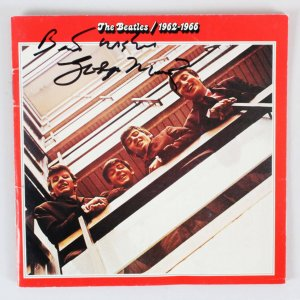 George Martin Signed CD Cover - COA JSA