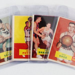 1957-58 Topps Basketball Card Lot (4)