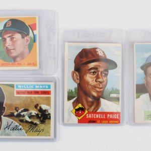 Vintage Topps Bowman Baseball Card Lot (4) Willie Mays etc.