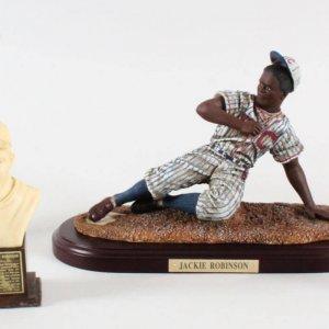 Jackie Robinson Statue Lot (5) Dodgers