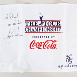 Tiger Woods Signed Golf Flag - COA JSA