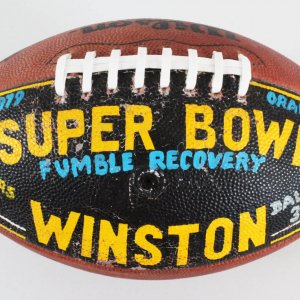 Super Bowl XIII Game-Used Football -Dennis Winston Painted Game Football
