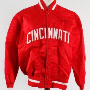 Cincinnati Reds Game-Worn Field Jacket Signed by Pete Rose COA 100% Authentic Team Grade: 11/20