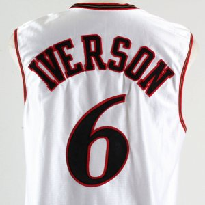 2002 Allen Iverson Extra Event-Issued All-Star Jersey- Sixers