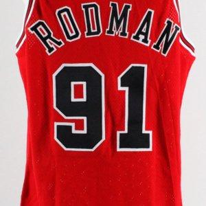 1995-96 Dennis Rodman Game-Ready NBA Finals Jersey -Bulls