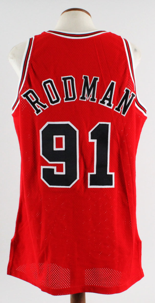 da149d6bb8d 1995-96 Dennis Rodman Game-Ready NBA Finals Jersey -Bulls ...