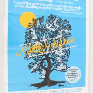 1977 A Little Night Music Movie Poster One Sheet