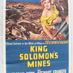 1962 King Solomon's Mines Movie Poster One Sheet R62/109