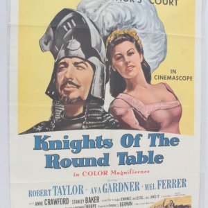 1962 Knights Of The Round Table Movie Poster One Sheet R62/39