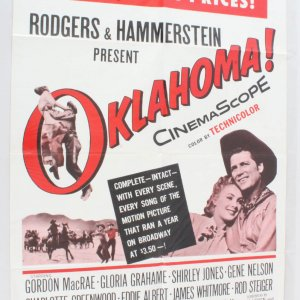 1963 Oklahoma Movie Poster One Sheet R62/26