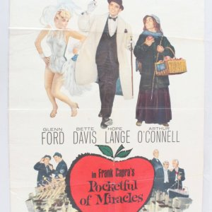 1962 Pocketful Of Miracles Movie Poster One Sheet 62/11
