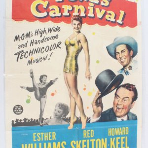 1951 Texas Carnival Movie Poster One Sheet 51/496