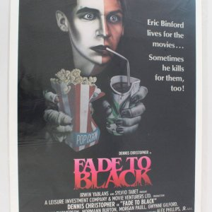 1980 Fade to Black Movie Poster One Sheet
