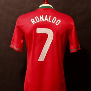Cristiano Ronaldo Game-Used #7 Portugal Shirt.  FIFA International Friendly 8/14/2013.