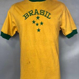 Brazil #4 Luizinho Game Worn Jersey 1981