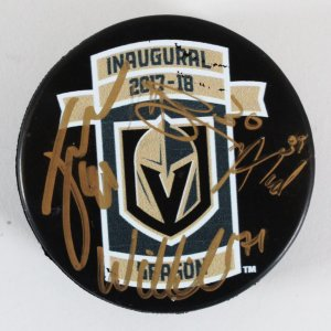 Jonathan Marchessault Signed Hockey Puck w/3 Other Vegas Golden Knights - COA JSA