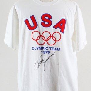 Bruce Jenner Signed Olympic T-Shirt USA Team 1976  - COA JSA