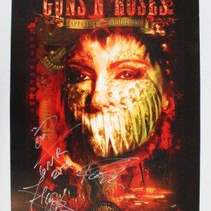 Guns N' Roses Signed Poster - COA JSA