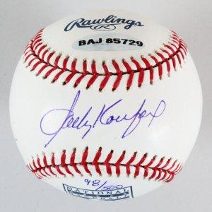 Sandy Koufax Signed Baseball Dodgers - COA UDA