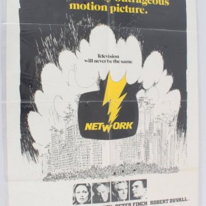 1976 Network Movie Poster One Sheet 76/214