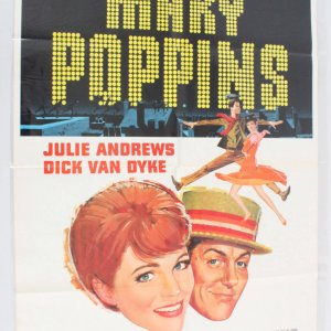 1964 Mary Poppins Movie Poster One Sheet 64/249