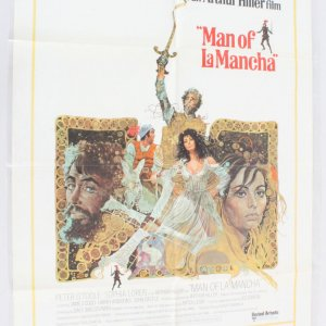 1972 Man of La Mancha Movie Poster One Sheet 72/350