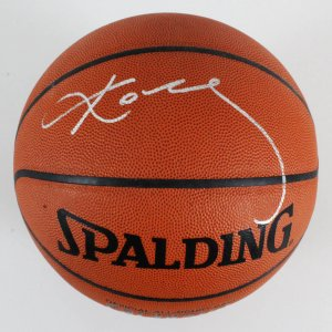Kobe Bryant Signed Basketball Lakers - COA Team Letter
