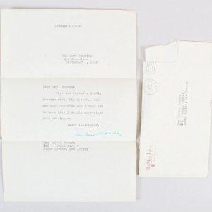 President Herbert Hoover Signed Letter TLS - COA JSA