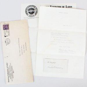 President Herbert Hoover Signed Cut - COA JSA