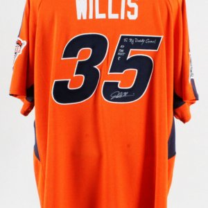 2005 Dontrelle Willis Signed Jersey Worn BP All-Star - COA 100% Authentic Team