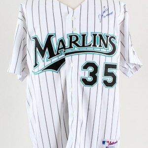 Dontrelle Willis Signed Jersey Marlins - COA 100% Authentic Team